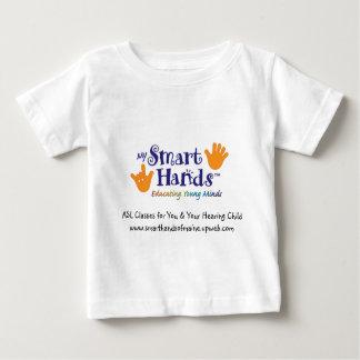 MY_Smart_hands_logo_1 [1]、ASLはあなたのために及び…分類します ベビーTシャツ