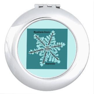MyastheniaのGravisのティール(緑がかった色)の雪片のコンパクトの鏡