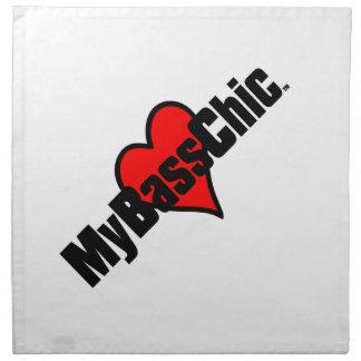 MyBassChic (tm)の深紅色のハート ナプキンクロス