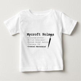 Mycroft blk ベビーTシャツ