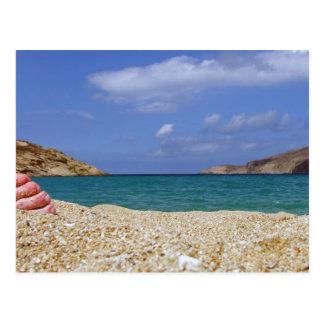 Mykonosのビーチ ポストカード