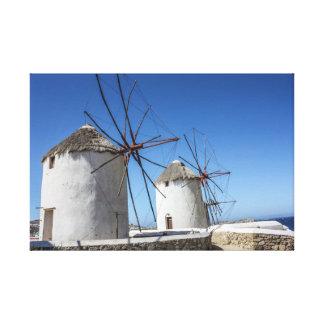 Mykonosの写真: 風車 キャンバスプリント