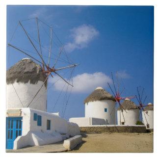 Mykonosの島の美しい風車、 タイル