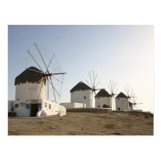 Mykonosの風車 ポストカード