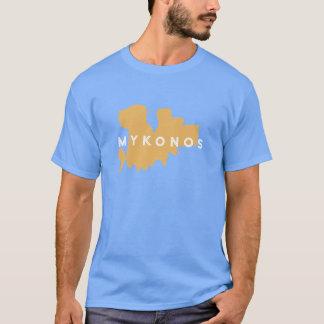 Mykonosギリシャのシルエット Tシャツ