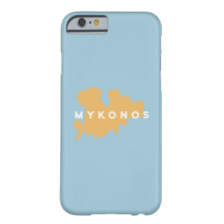 Mykonosギリシャの島のシルエット Barely There iPhone 6 ケース
