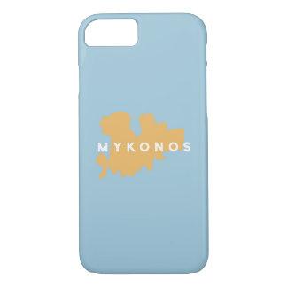Mykonosギリシャの島のシルエット iPhone 8/7ケース
