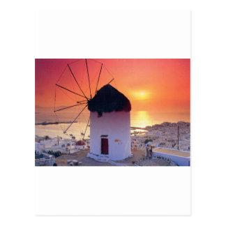 MYKONOSギリシャの風車(St.K) ポストカード