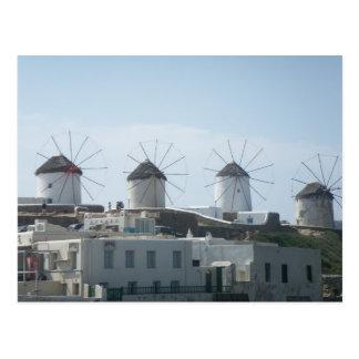 Mykonos、ギリシャ ポストカード