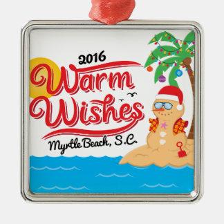 Myrtle Beachからの願いを暖めて下さい メタルオーナメント