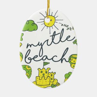 Myrtle Beachの原稿 セラミックオーナメント