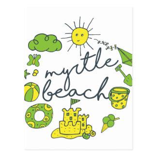 Myrtle Beachの原稿 ポストカード