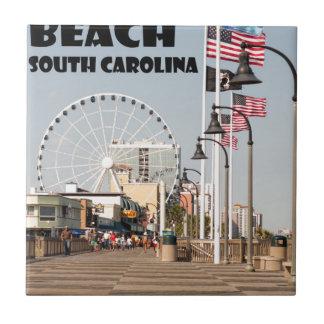 Myrtle Beachの遊歩道のサウスカロライナの休暇BLK タイル