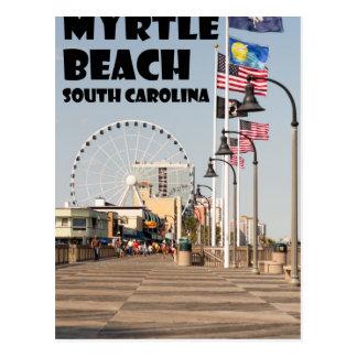 Myrtle Beachの遊歩道のサウスカロライナの休暇BLK ポストカード
