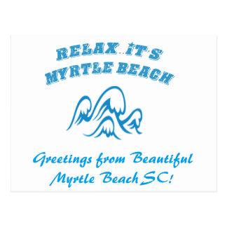 Myrtle Beachの郵便はがきをリラックスして下さい ポストカード