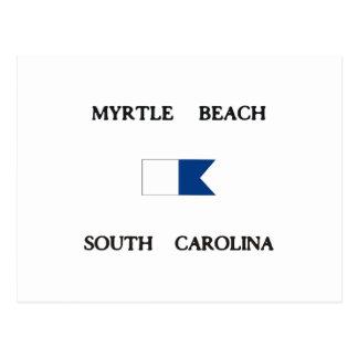 Myrtle Beachサウスカロライナのアルファ飛び込みの旗 ポストカード