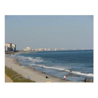 Myrtle Beachサウスカロライナのビーチ ポストカード