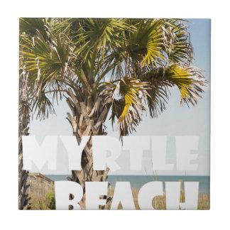 Myrtle Beachサウスカロライナのヤシの木の休暇の` タイル