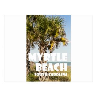 Myrtle Beachサウスカロライナのヤシの木の休暇の` ポストカード