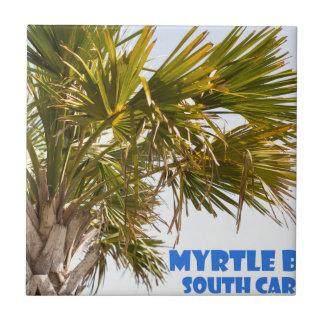 Myrtle Beachサウスカロライナのヤシの木の休暇 タイル