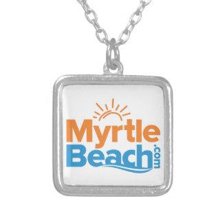 MyrtleBeach.comのロゴ シルバープレートネックレス