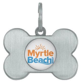 MyrtleBeach.comのロゴ ペットネームタグ