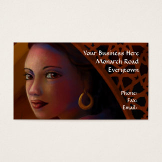 Mysterious Woman Business Cards 名刺