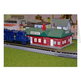 Nのスケール・モデルの列車の村 カード