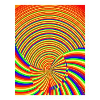 nの虹スペクトルは螺線形になります: エレガントな装飾 レターヘッド