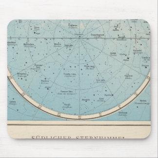 NのS Sternhimmelの天の地図書の地図 マウスパッド