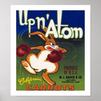 n原子カリフォルニアにんじんの上 ポスター