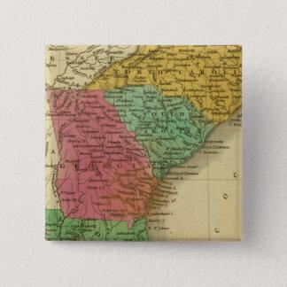 N及びSカロライナ3 5.1CM 正方形バッジ