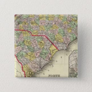 N及びSカロライナ 5.1CM 正方形バッジ