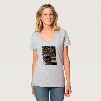 「n革Steampunk Galに羽をつけます! Tシャツ