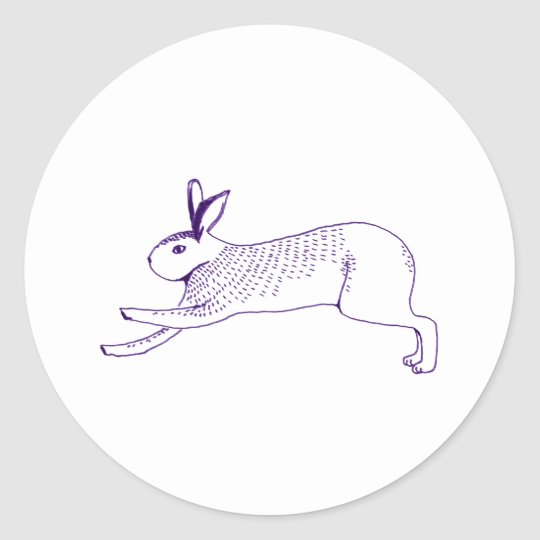 n009:rabbit ラウンドシール