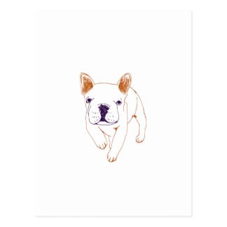 n014:french bulldog はがき
