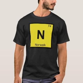 N -ノーウォークコネチカット化学周期表 Tシャツ