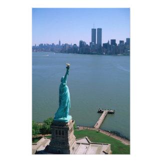 N.A.、米国、ニューヨーク、ニューヨークシティ。 彫像 フォトプリント