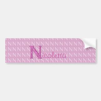 N - Falckのアルファベット(ピンク) バンパーステッカー