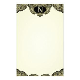 N - Falckのアルファベット(金) 便箋