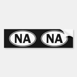 NAの楕円形のアイデンティティの印 バンパーステッカー