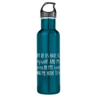 NA第3のステップ祈りの言葉の水差しの青 ウォーターボトル
