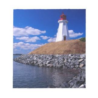 NA、カナダ、ニューブランズウィックのCampabelloの島 ノートパッド