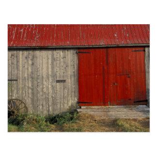 NA、カナダ、ニューブランズウィック、Shepody。 赤い納屋 ポストカード