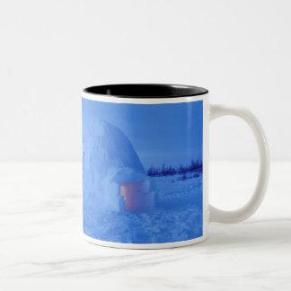 NA、カナダ、マニトバ、Churchill。 北極イグルー ツートーンマグカップ