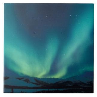 NA、米国、アラスカの小川は、緑のカーテン及びます タイル