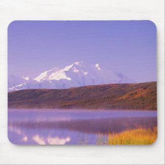 NA、米国、アラスカ、Denali NPのwonder湖、Mt. マウスパッド