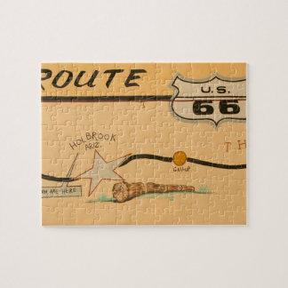NA、米国、アリゾナのHolbrookのルート66の道の壁画 ジグソーパズル