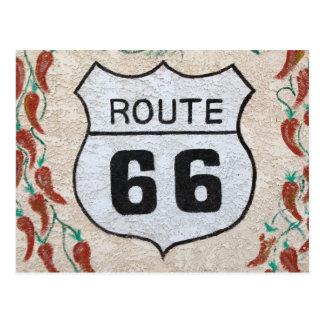NA、米国、アリゾナのHolbrookのルート66の道路標識 ポストカード