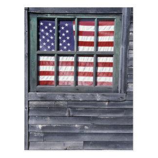 NA、米国、メインのジョージタウンの島。 の旗 ポストカード